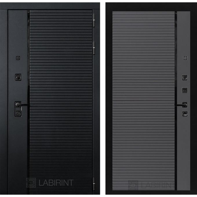 Стальная дверь Лабиринт Пиано 22 (Графит софт)