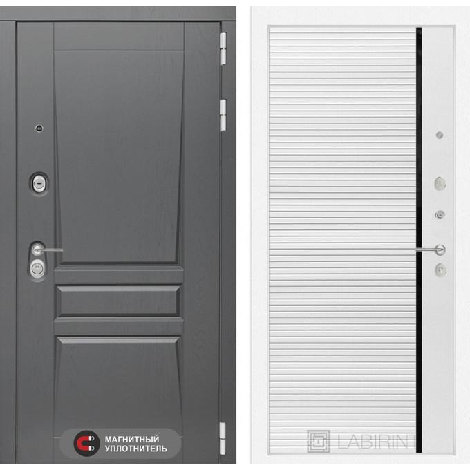 Стальная дверь Лабиринт Платинум 22 (Белый софт)