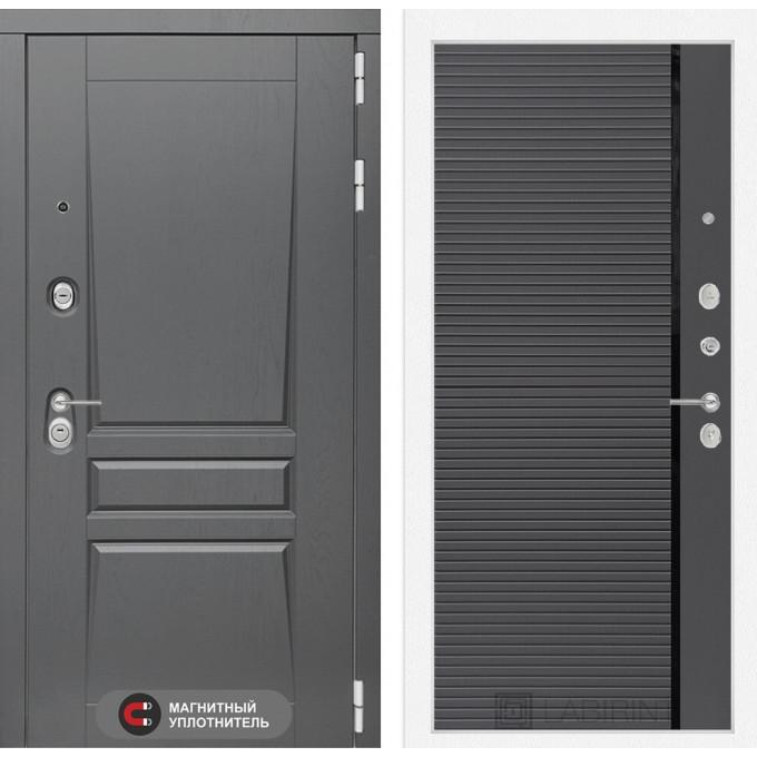 Стальная дверь Лабиринт Платинум 22 (Графит софт)