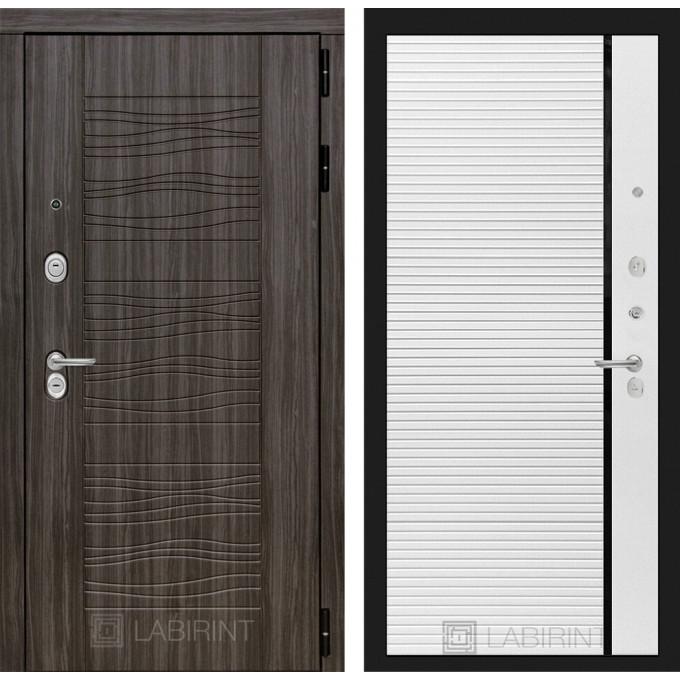 Стальная дверь Лабиринт SCANDI 22 (Белый софт)