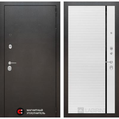 Стальная дверь Лабиринт SILVER 22 (Белый софт)