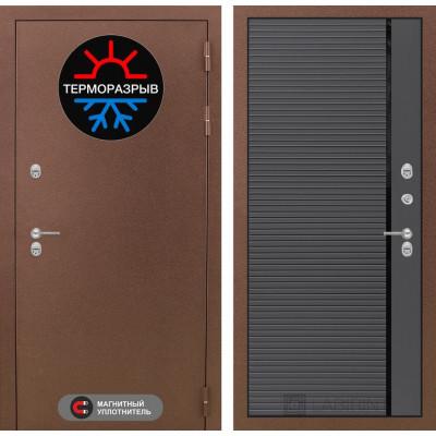 Стальная дверь Лабиринт Термо Магнит 22 (Графит софт)