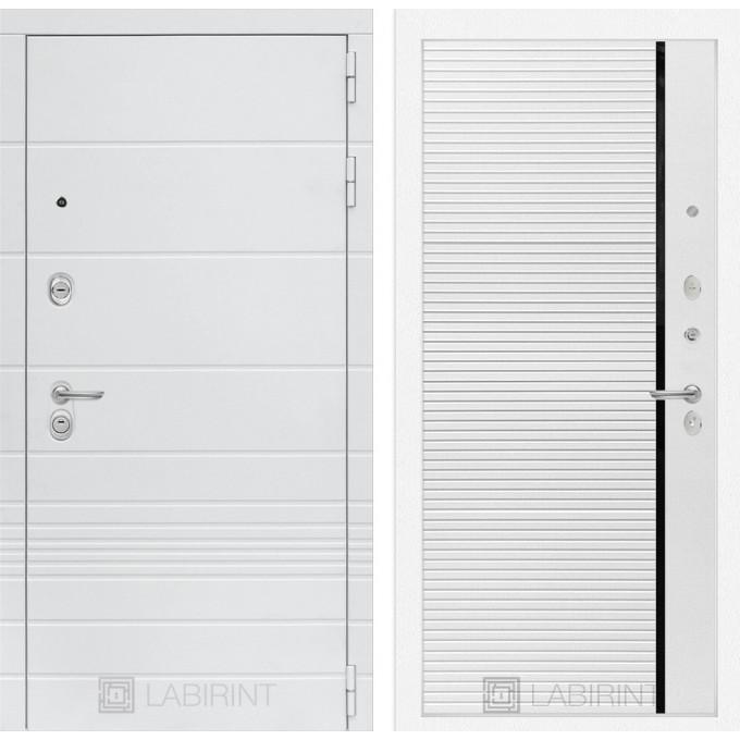 Стальная дверь Лабиринт TRENDO 22 (Белый софт)