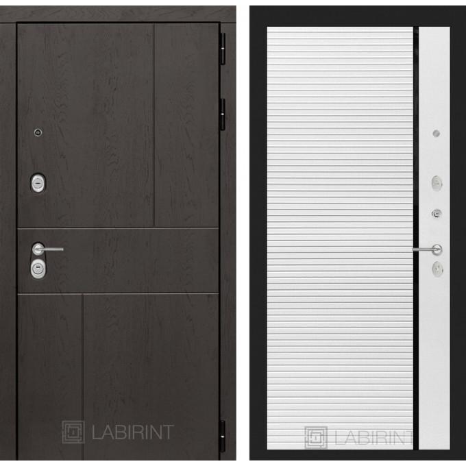 Стальная дверь Лабиринт URBAN 22 (Белый софт)