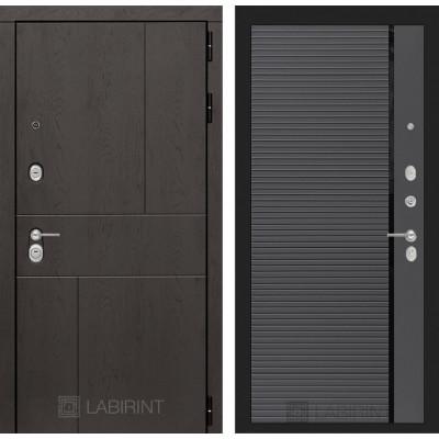 Стальная дверь Лабиринт URBAN 22 (Графит софт)