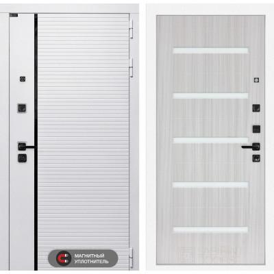 Стальная дверь Лабиринт Пиано WHITE 01 (Сандал белый)