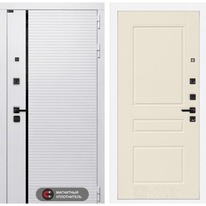 Стальная дверь Лабиринт Пиано WHITE 03 (Крем софт)