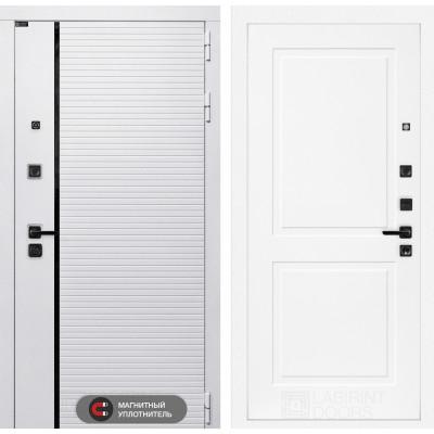 Стальная дверь Лабиринт Пиано WHITE 13 (Белый софт)