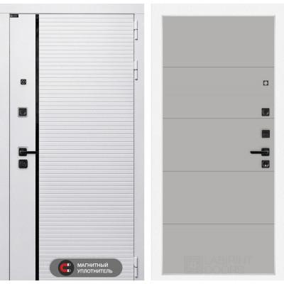 Стальная дверь Лабиринт Пиано WHITE 13 (Грей софт)