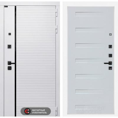 Стальная дверь Лабиринт Пиано WHITE 14 (Дуб кантри белый горизонтальный)