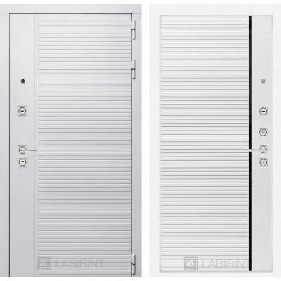 Стальная дверь Лабиринт Пиано WHITE 22 (Белый софт)