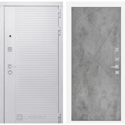 Стальная дверь Лабиринт Пиано WHITE 24 (Бетон светлый)