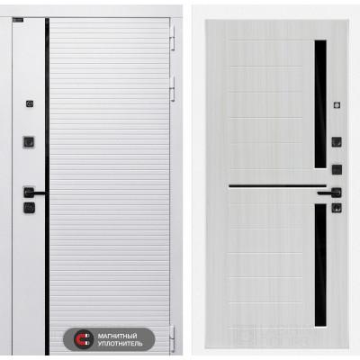 Стальная дверь Лабиринт Пиано WHITE 02 (Сандал белый)