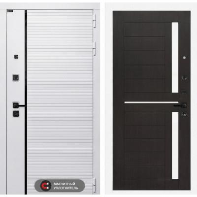 Стальная дверь Лабиринт Пиано WHITE 02 (Венге)