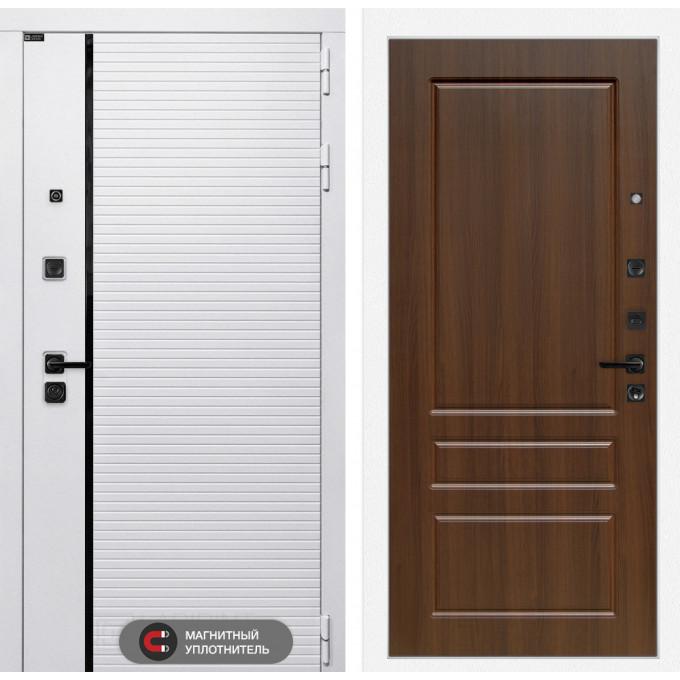 Стальная дверь Лабиринт Пиано WHITE 03 (Орех бренди)