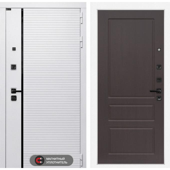 Стальная дверь Лабиринт Пиано WHITE 03 (Орех премиум)