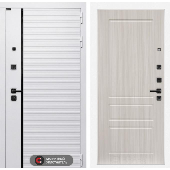 Стальная дверь Лабиринт Пиано WHITE 03 (Сандал белый)