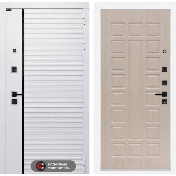 Стальная дверь Лабиринт Пиано WHITE 04 (Беленый дуб)