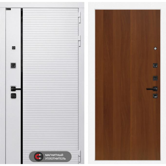 Стальная дверь Лабиринт Пиано WHITE 05 (Итальянский орех)