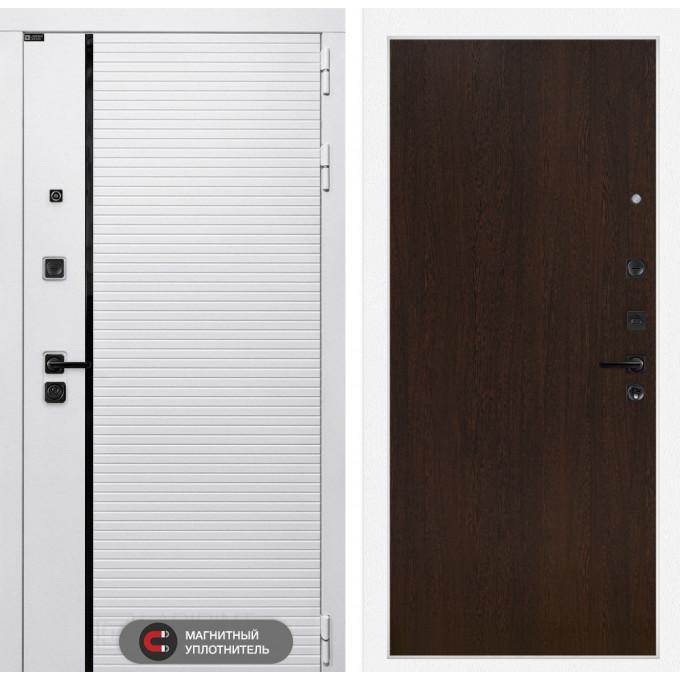 Стальная дверь Лабиринт Пиано WHITE 05 (Венге)