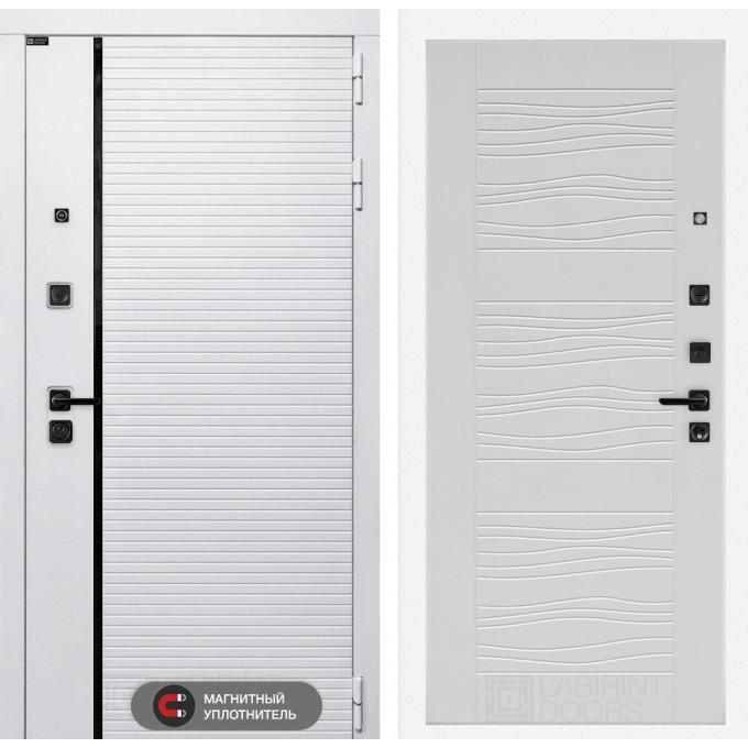 Стальная дверь Лабиринт Пиано WHITE 06 (Белое дерево)