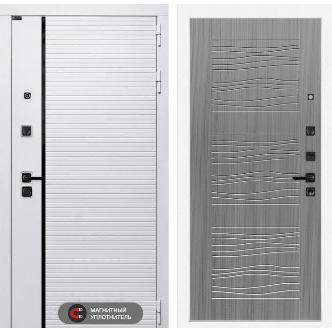 Стальная дверь Лабиринт Пиано WHITE 06 (Сандал серый)