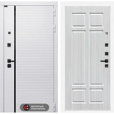 Стальная дверь Лабиринт Пиано WHITE 08 (Кристалл вуд)