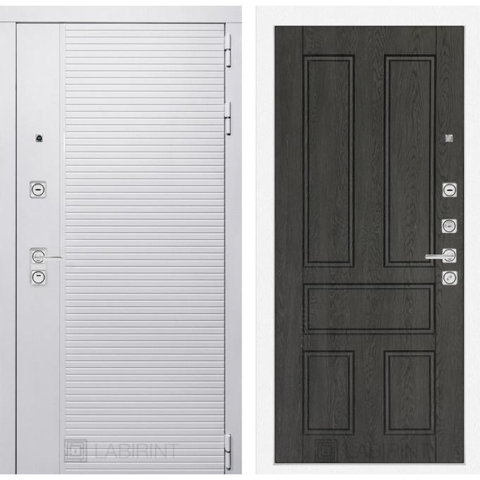 Стальная дверь Лабиринт Пиано WHITE 10 (Дуб филадельфия графит)