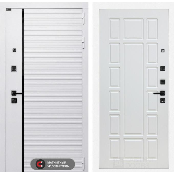 Стальная дверь Лабиринт Пиано WHITE 12 (Белое дерево)