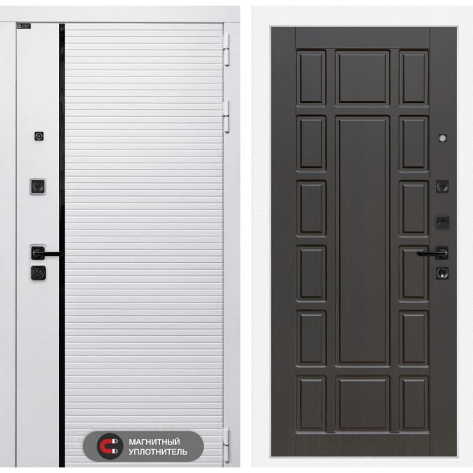 Стальная дверь Лабиринт Пиано WHITE 12 (Венге)