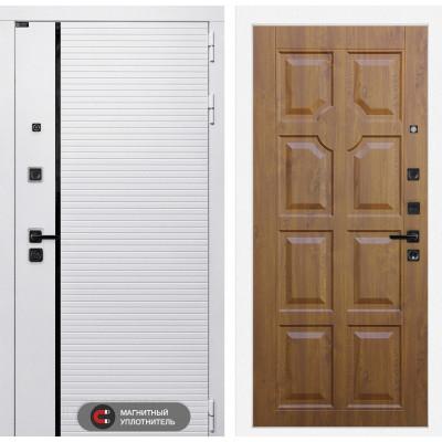 Стальная дверь Лабиринт Пиано WHITE 17 (Золотой дуб)