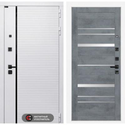 Стальная дверь Лабиринт Пиано WHITE 20 (Бетон темный)