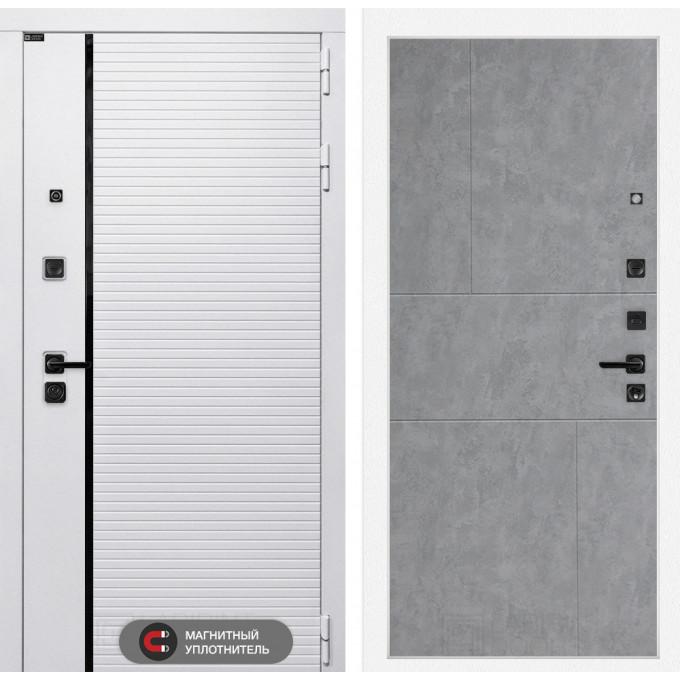 Стальная дверь Лабиринт Пиано WHITE 21 (Бетон светлый)