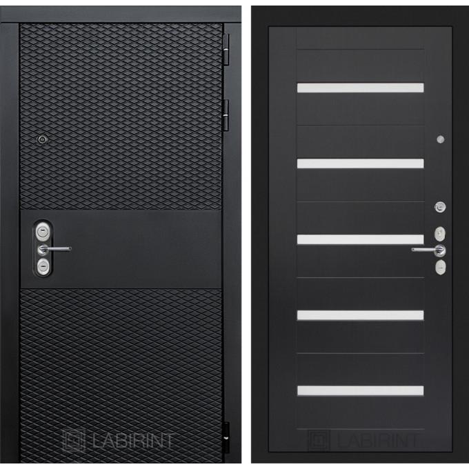 Стальная дверь Лабиринт BLACK 01 (Венге)