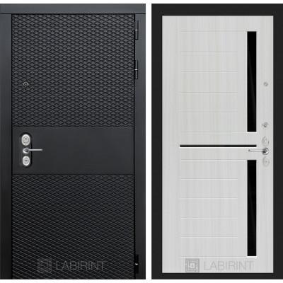 Стальная дверь Лабиринт BLACK 02 (Сандал белый)
