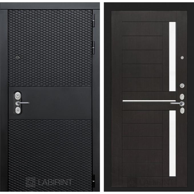 Стальная дверь Лабиринт BLACK 02 (Венге)