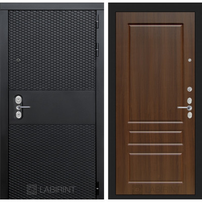 Стальная дверь Лабиринт BLACK 03 (Орех бренди)