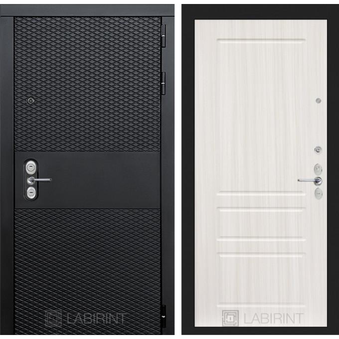 Стальная дверь Лабиринт BLACK 03 (Сандал белый)