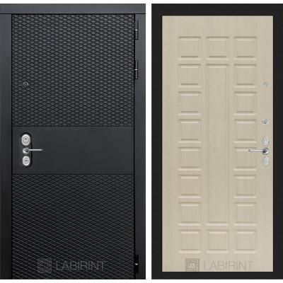 Стальная дверь Лабиринт BLACK 04 (Беленый дуб)