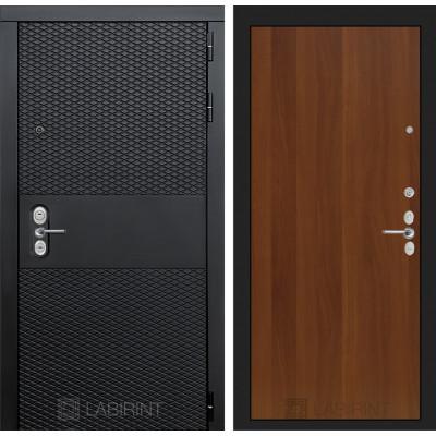 Стальная дверь Лабиринт BLACK 05 (Итальянский орех)