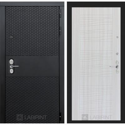 Стальная дверь Лабиринт BLACK 06 (Сандал белый)