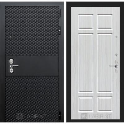 Стальная дверь Лабиринт BLACK 08 (Кристалл вуд)