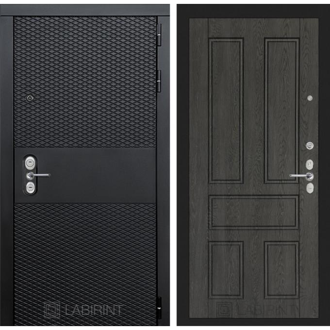 Стальная дверь Лабиринт BLACK 10 (Дуб филадельфия графит)
