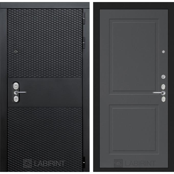Стальная дверь Лабиринт BLACK 11 (Графит софт)