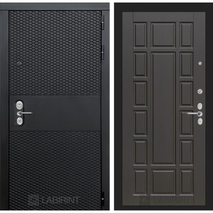 Стальная дверь Лабиринт BLACK 12 (Венге)