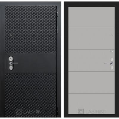 Стальная дверь Лабиринт BLACK 13 (Грей софт)