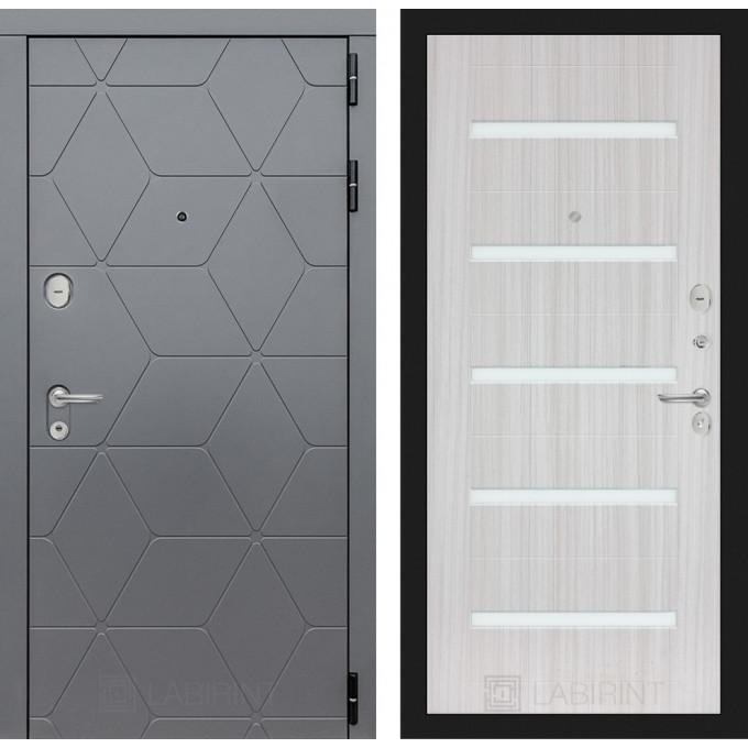 Стальная дверь Лабиринт COSMO 01 (Сандал белый)