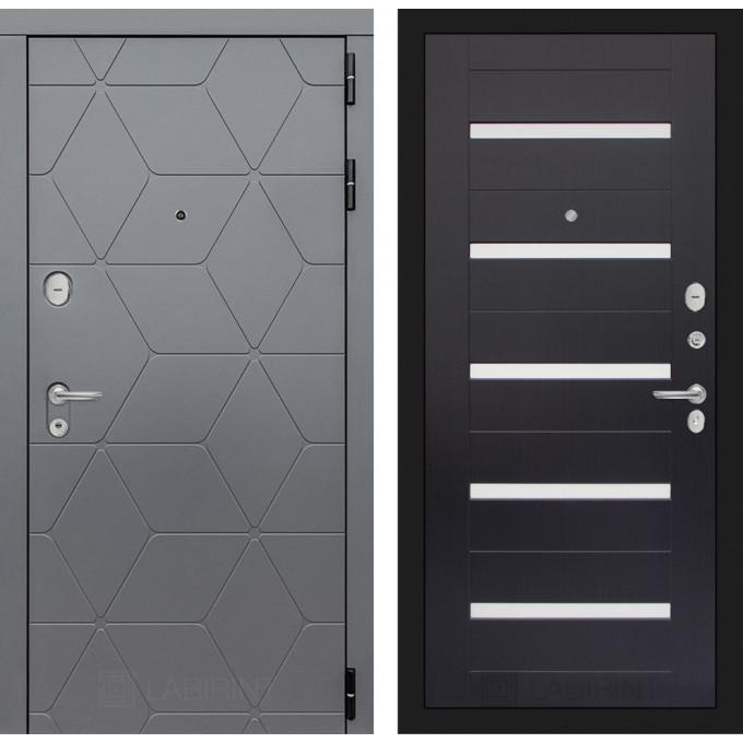Стальная дверь Лабиринт COSMO 01 (Венге)