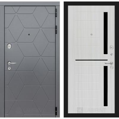 Стальная дверь Лабиринт COSMO 02 (Сандал белый)