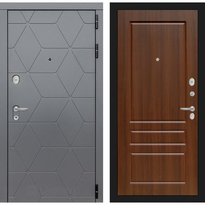 Стальная дверь Лабиринт COSMO 03 (Орех бренди)